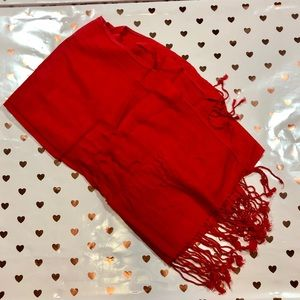Accessories - Red Pashmina